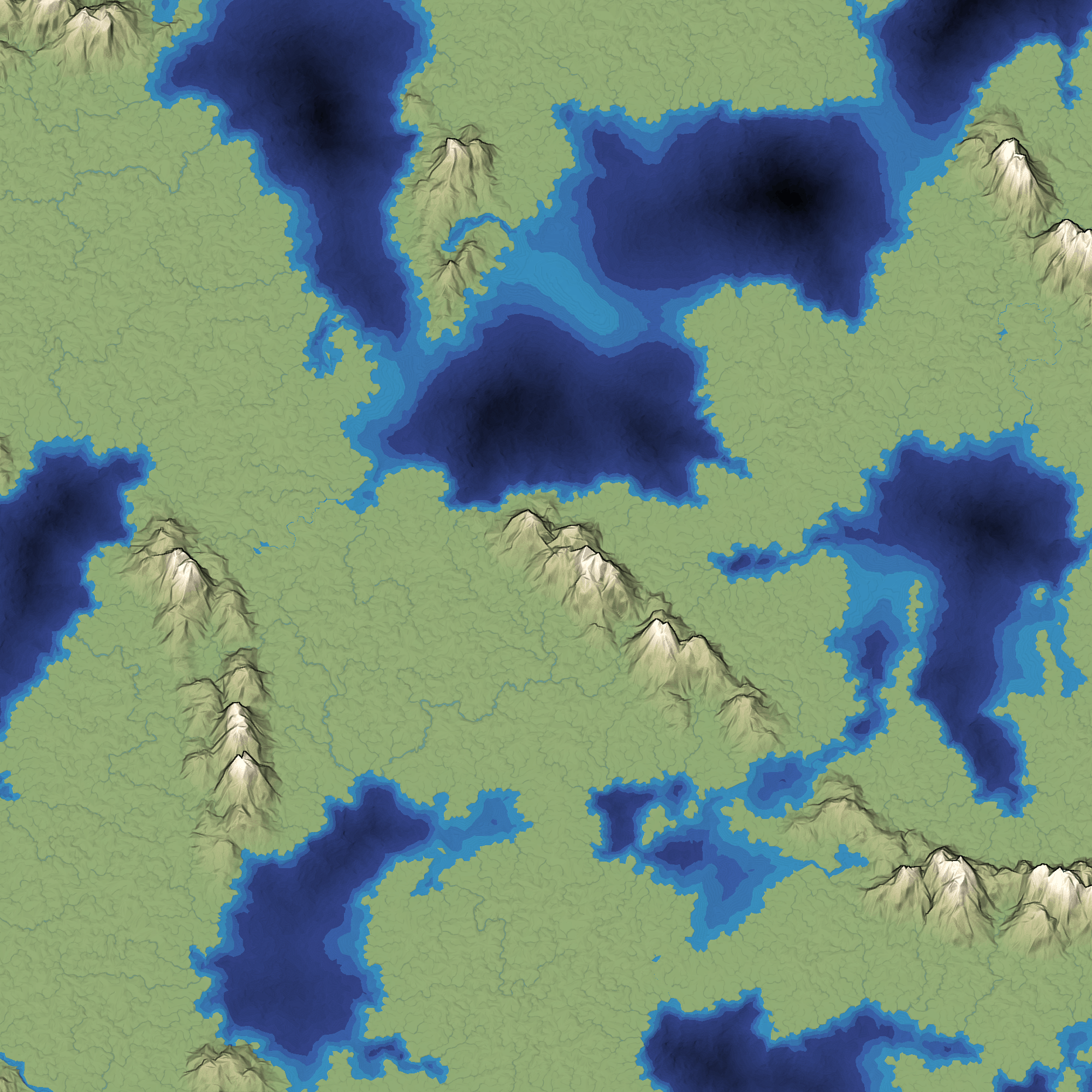 Smooth rivers from my new river renderer