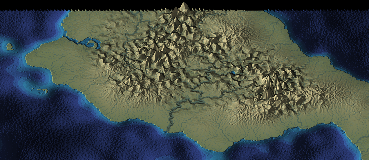 Screenshot of a procedurally generated map