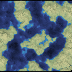 More land masses produced with noise functions