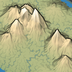 More mountains produced with worley noise