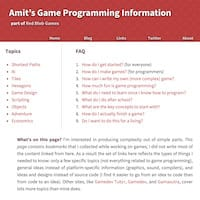 screenshot of my game programming site page
