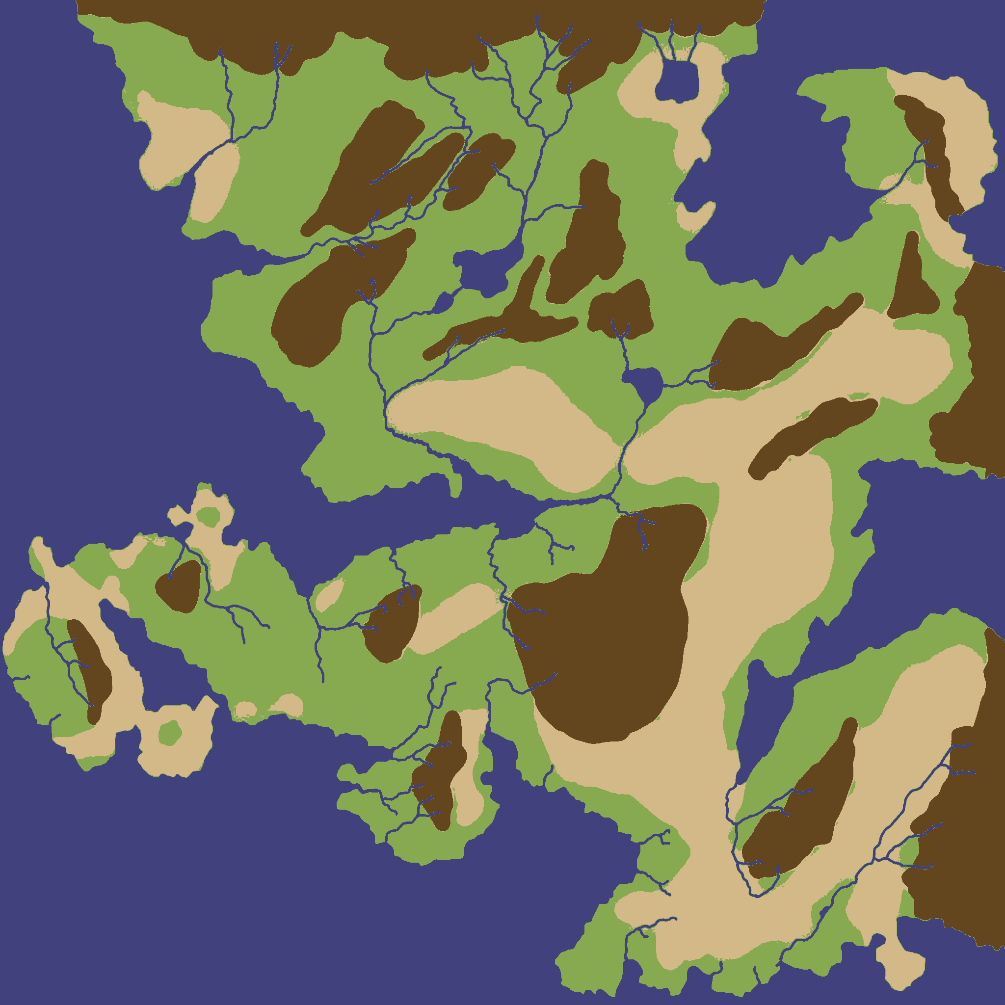 Procedural river drainage basins this would allow a game designer to choose the major land masses oceans and rivers and then the procedural terrain generator would figure out how to fill gumiabroncs Gallery