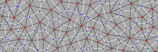 Voronoi and Delaunay graph diagram